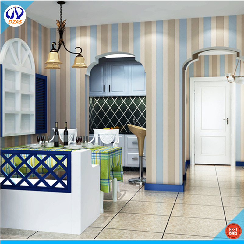 online kaufen großhandel blau gelb tapete aus china blau gelb ... - Wohnzimmer Blau Gelb