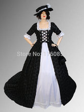 Medieval Italian Renaissance Countess Dress Handmade Embroidered Taffeta with Train Multiple Colors Available