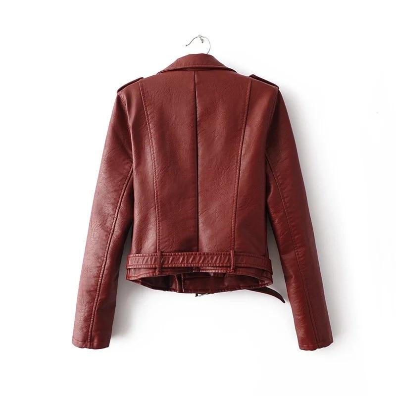 HTB1uiDQb.l7MKJjSZFDq6yOEpXa8 Aelegantmis Autumn New Short Faux Soft Leather Jacket Women Fashion Zipper Motorcycle PU Leather Jacket Ladies Basic Street Coat
