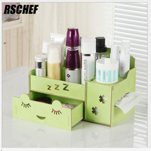 Perfect Multifunctional Wooden Storage Box Simple Waterproof And Large Capacity  Creative Toilet Case(China)