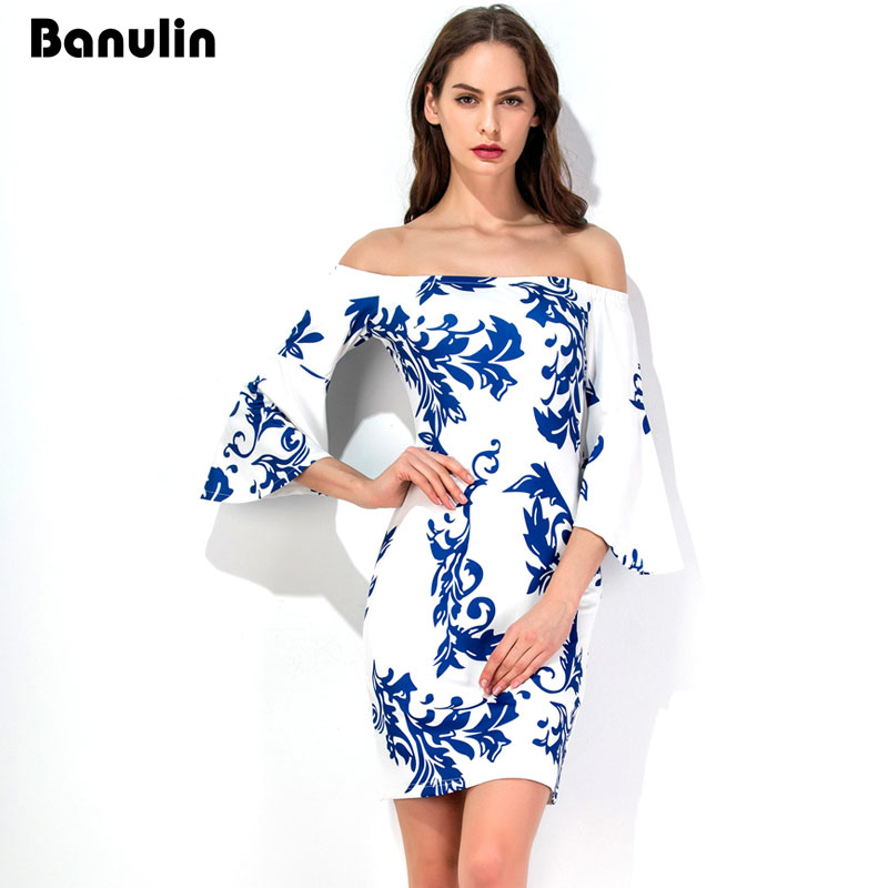 Aliexpress.com : Buy Banulin Off Shoulder Flare Sleeve