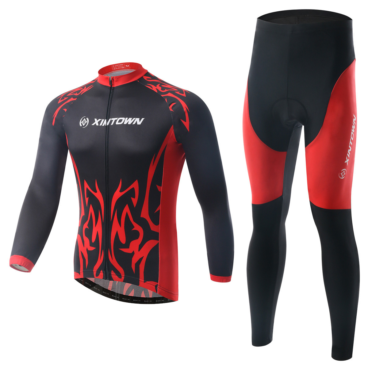 XINTOWN Long Sleeve Breathable Clothing 3D Gel Pad Pants Sport Clothes Spring Autumn MTB Road Bike Bicycle Cycling Jersey Set basecamp cycling jersey long sleeves sets spring bike wear breathable bicycle clothing riding outdoor sports sponge 3d padded
