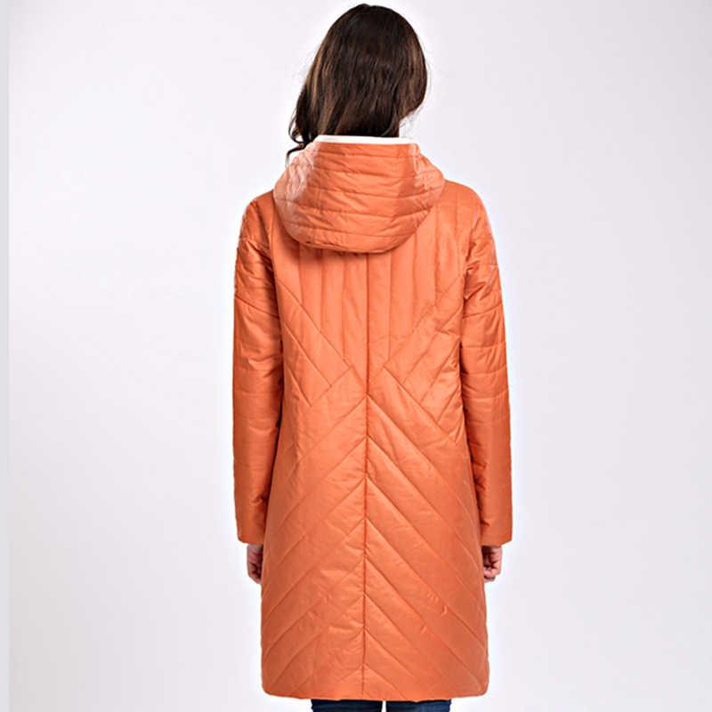 2019 высококачественное Женское пальто весна-осень, Женская ветрозащитная тонкая парка, длинная, плюс размер, с капюшоном, новый дизайн, женские куртки, верхняя одежда