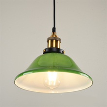 Jadeite Green Glass Pendant Lights Creative Nordic Industrial Style Home Lighting Restaurant Cafe Living Room Bedroom Hanglamp