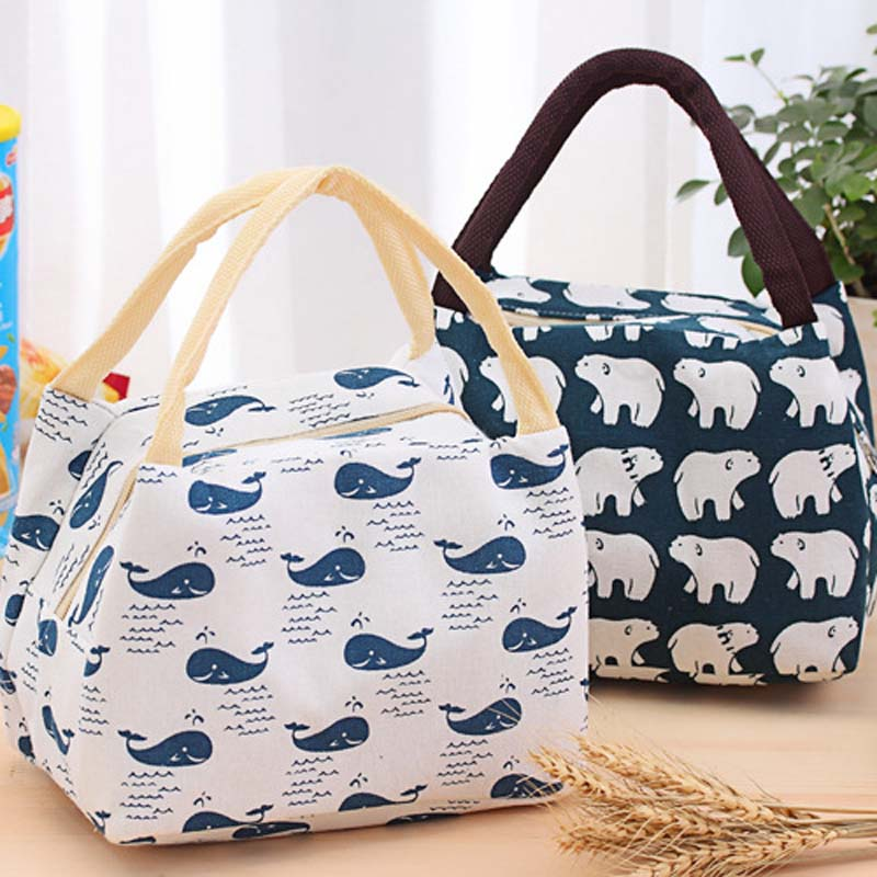Simple Lunch Bag Waterproof Men Women StudentOxford Beach Lunch Bag Food Picnic Bolsa Termica Picnic Cooler Bag Lancheira Bolsa