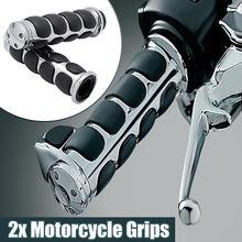Universal 25mm 1 Or 22mm 7/8 Motorcycle Handlebar Handle Bar End Hand Grips For Harley Davidson Honda Yamaha Cruiser Chopper