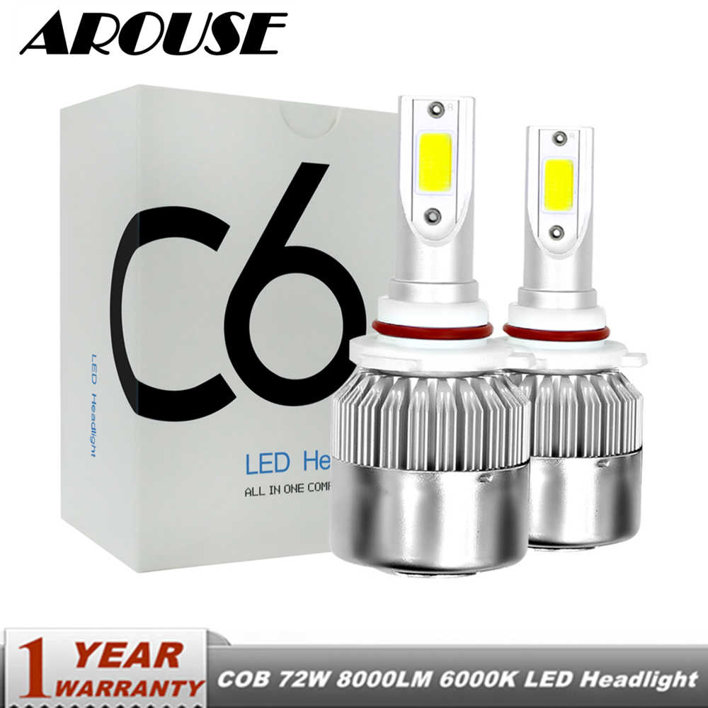 medium resolution of arouse 9006 h4 h7 h11 h1 car led headlight bulbs 72w led h3 9004 9005 9007