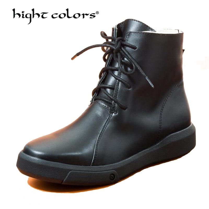 Cuir Noir Martin Ah001 Bas Mi Chaussures 1 À Talons Femmes Bottes txhCsQrd