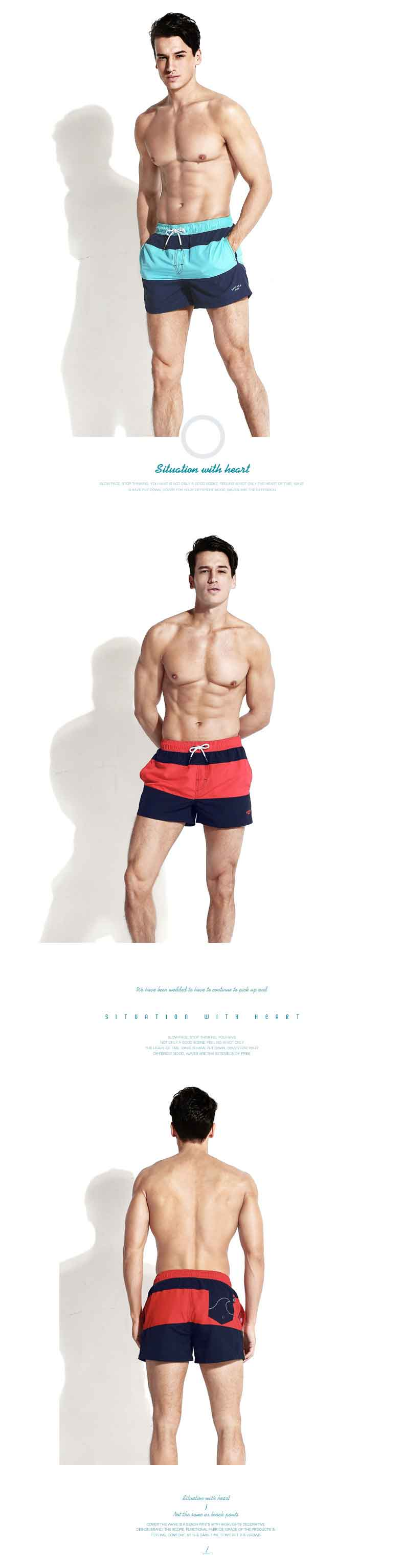 Quick Dry Mens Board Shorts Beachwear Plus