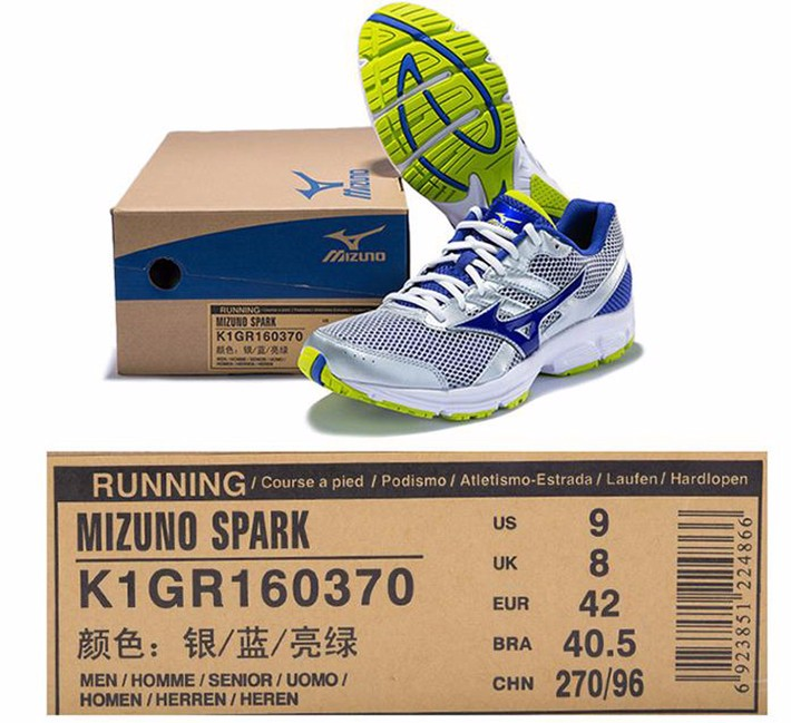 MIZUNO Men SPARK Mesh Breathable Light Weight Cushioning Jogging Running Shoes Sneakers Sport Shoes K1GR160370 XYP303 17