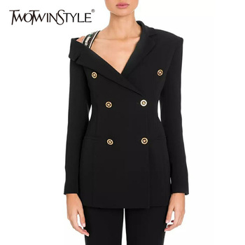 Diamonds Blazer Sexy Off Shoulder Long Sleeve Slim Women's Jacket