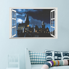 Harry Potter accessories Hogwarts Wall Stickers Wizarding World School Wallpaper For Living Room Mural PVC Decal Poster