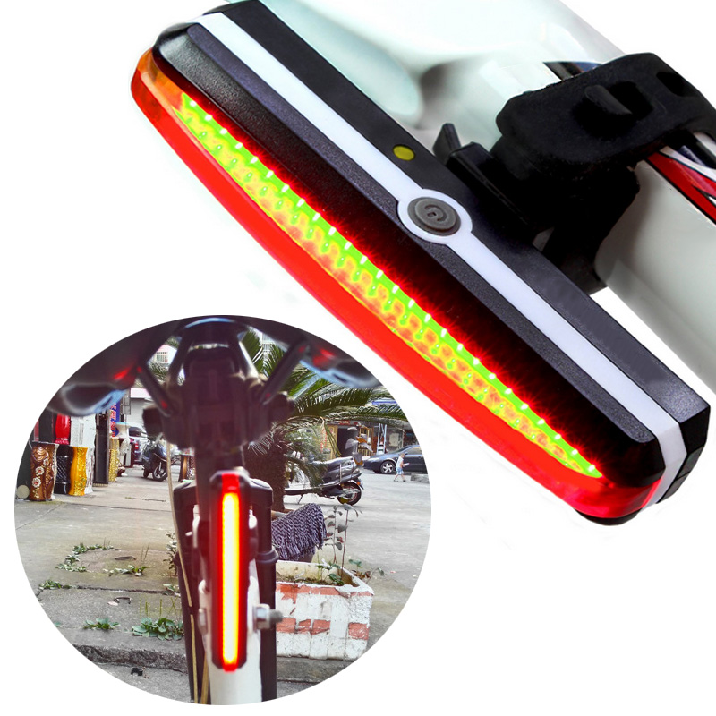 Ultra Bright Bike Light USB Rechargeable Bicycle Tail Lights Rear LED Cycling Safety Flashlight Accessories ALS88