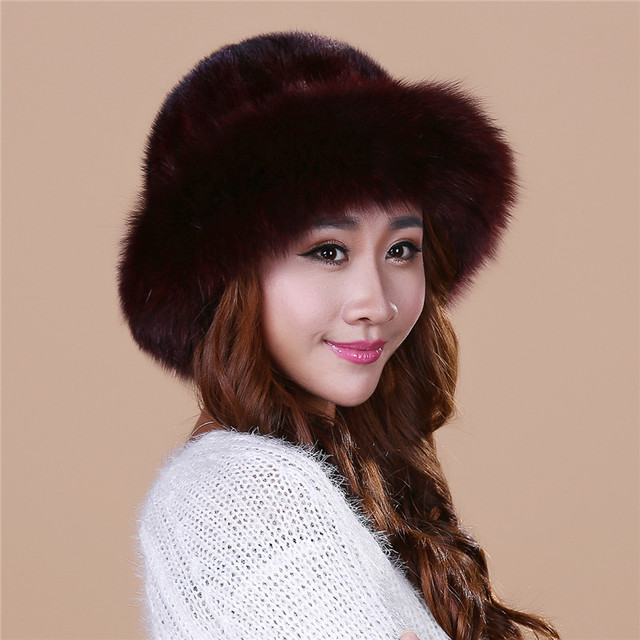 Cheap Lady's the new mink fur mink hat knit cap children winter thickening warm winter hat free shipping/4 color.#SD16