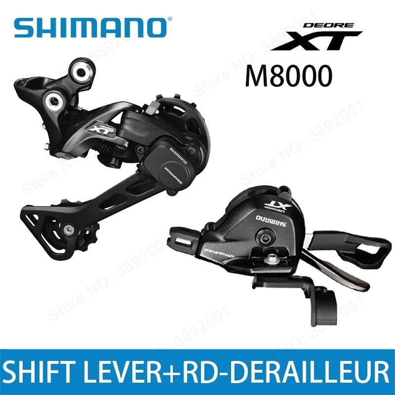 SHIMANO DEORE XT M8000 groupe SL M8000 levier de vitesse + RD M8000 dérailleur arrière vtt 11 vitesses M8000 SL + RD GS SGS