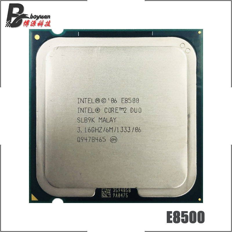 Intel Core 2 Duo E8500 3.1 GHz Dual-Core CPU Processor 6M 65W 1333 LGA 775 title=