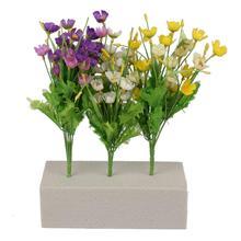 Мягкий кирпичный цветок из пенопласта, Шелковый искусственный цветок, кирпич, Цветочная композиция, цветочный держатель, поделки «сделай сам», свадебное украшение
