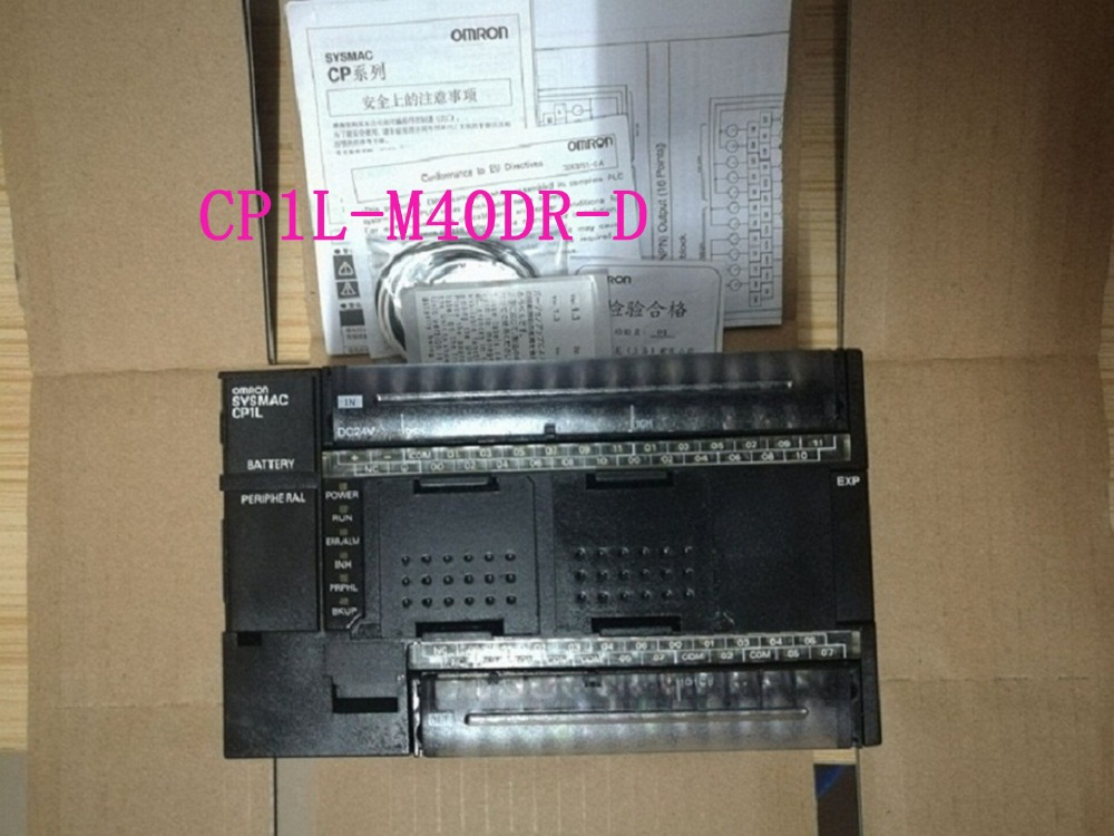 CONTROLLER New Original CP1L-M40DR-D CP1L PLC CPU for Omron Sysmac 40 I/O 24 DI 16 DO Relay 24V USB new original regulator lr 1 8 d o mini 162590