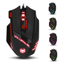 Zelotes T90 USB Wired Computer font b Mouse b font Optical Game Mause 9200DPI 8 Buttons