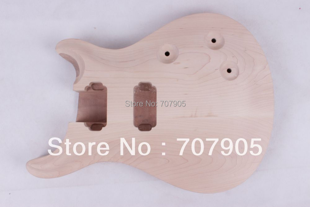Unfinished electric guitar body Mahogany body maple top new electric guitar body solid body mahogany flame maple veneer unfinished 868