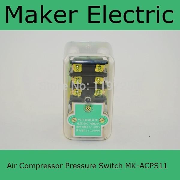 Cheap Price air compressor pressure regulator switch MK-ACPS11 8.0 Kgf/cm3 Pressure control switch for air compressor