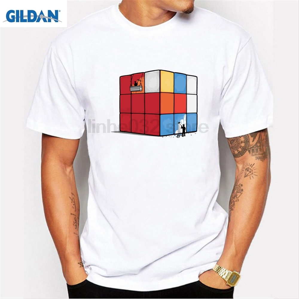 e306a9f7a3a Detail Feedback Questions about GILDAN Melt Cube T Shirt Men Magic Square  Men T Shirt Magic Cube 3D Print Short Sleeve Men Fashion The Big Bang  Theory T ...