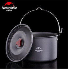 Naturehike 4-6 Persons Outdoor Camping Pots Alumina Durable Cookware Ultralight Cooking Picnic Camp Pot Kettle 4L Big Capacity цена