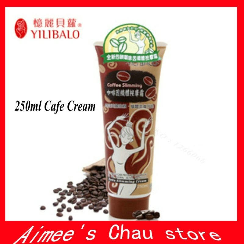 Free Shipping 1 Tubes YILIBALO 250ML Cafe Slimming Cream Massage Weight Loss Body Cream Anti Cellulite Fat Burning