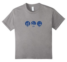 Awesome T Shirt Designs MenS Comfort Soft Crew Neck Short Sleeve Eat, Sleep, Fish
