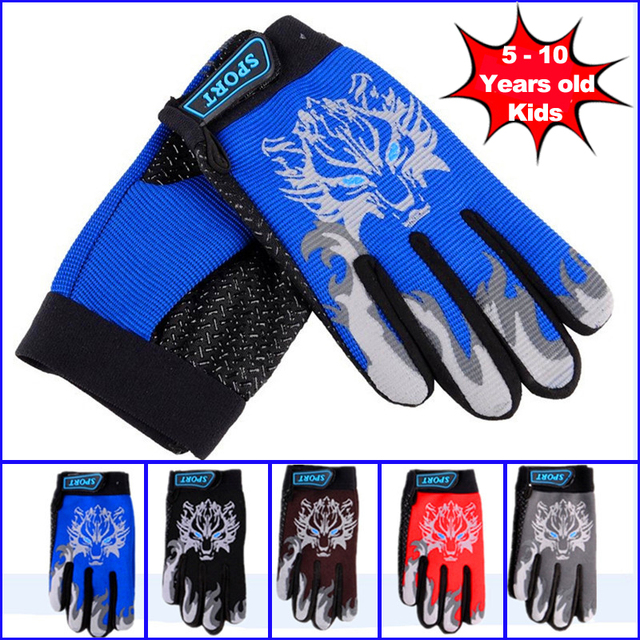 5 10 Years Kids Road Bike Gloves Autumn Riding Full Finger Cycling