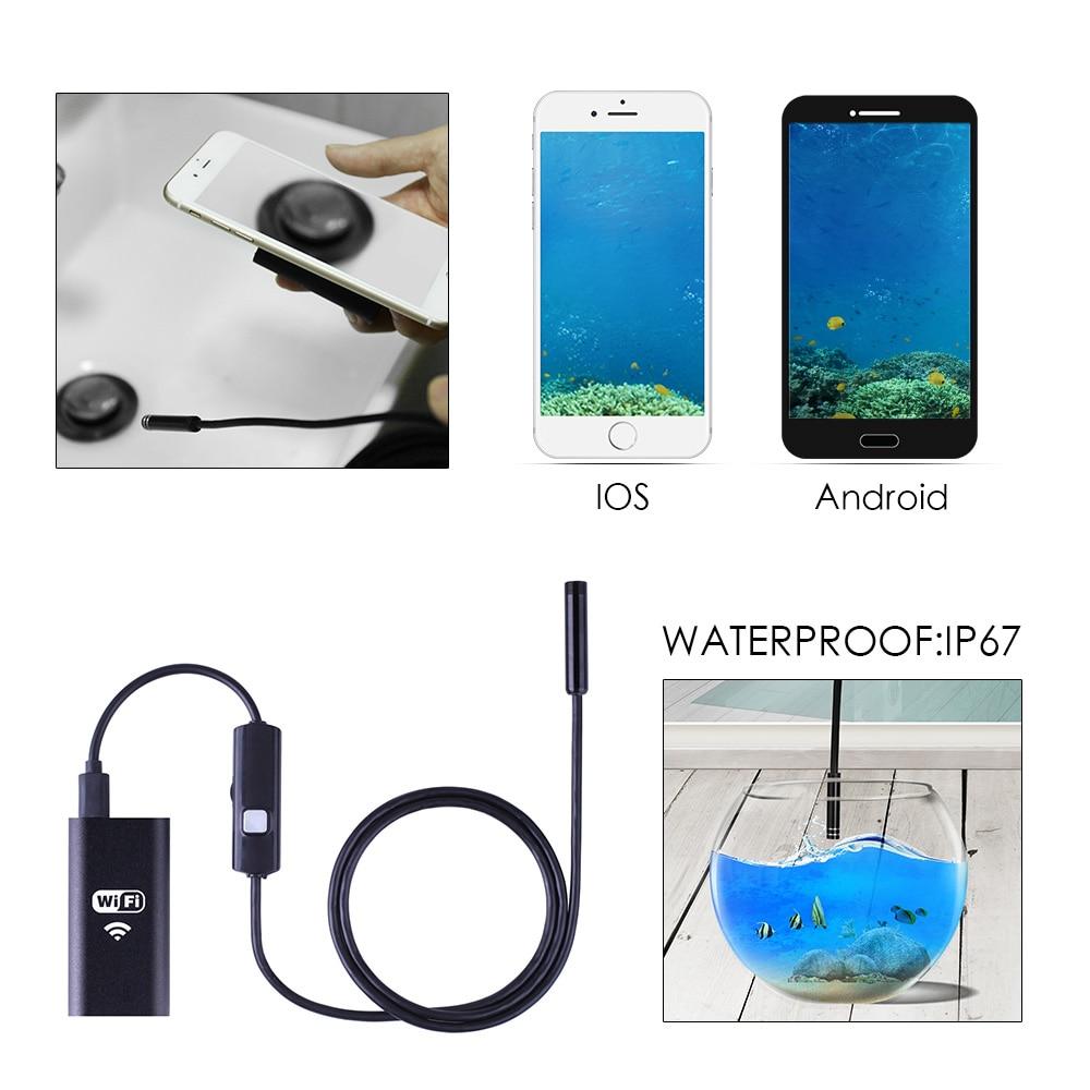 Image 5 - KERUI HD 720P WIFI Endoscope Camera Semi Rigid Tube Soft Wire 10M Waterproof Borescope Inspection Camera IOS USB Endoscope-in Surveillance Cameras from Security & Protection