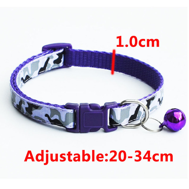 Delicate Safety Casual Nylon Dog Collar Neck Strap Fashion Adjustable Camo Bell Pet Dog Collar Hot Sale 1