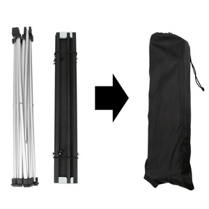Image 3 - أثاث حديقة خارجي أسود مربع طاولات قابلة للطي مع الحقيبة التخييم في الهواء الطلق الجداول للتخييم ، المشي ، نزهة ، الصيد ، شواء
