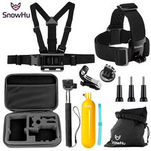 SnowHu For Gopro Hero Y81 Accessories Helmet band Survival tube Selfie stick Headband For Go pro hero 7 6 5 4 EKEN H9 xiaomi yi все цены