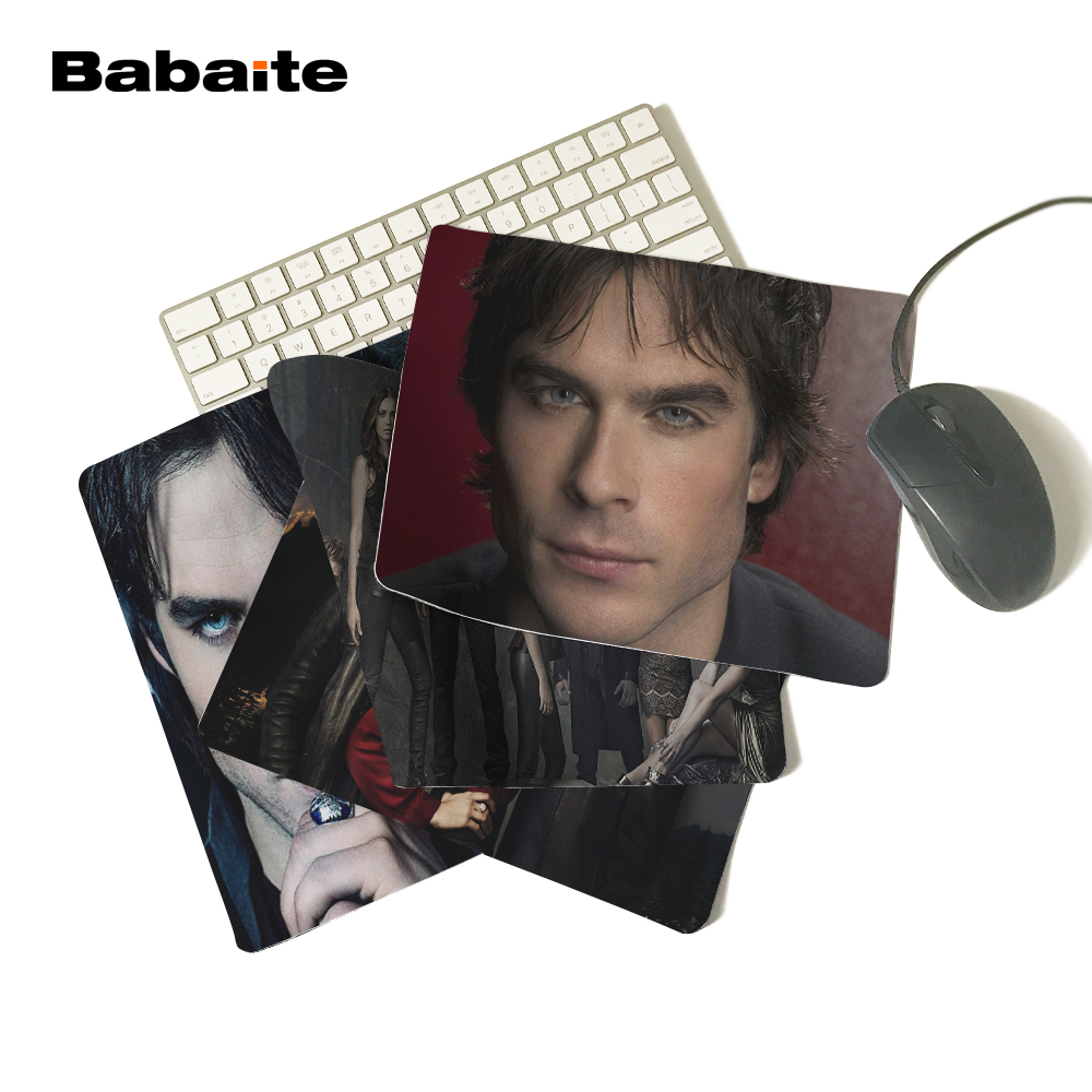 Babaite The Vampire Diaries Damon Salvatore Ian Somerhalder Gaming Gamer Durable Rubber Soft Comfort Mouse Mat