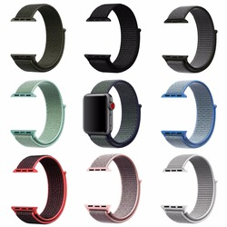 Nova Alta Qualidade Do Esporte de Nylon Loop Banda Replacment para Apple Série Relógio 1 2 3 Leve Respirável Macio Cinta Tecida 38 42mm