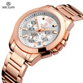 Luxury Megir Brand Watch Men Multifunction Business 3 Diall Waterproof Date Women Watch Full Steel Fashion Lover's Quartz Watch