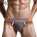 2016 New Fashion Sexy Cotton Men's Briefs High Quality Breathable Soft Cotton Men's Underwear Free Shipping DX277