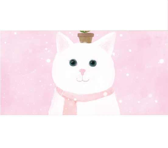 Pink Scarf White Cats Bed Headboard Sticker Wall Stickers Living Bedroom Diy Decals Mural Arts Printing Poster Drop Shipping