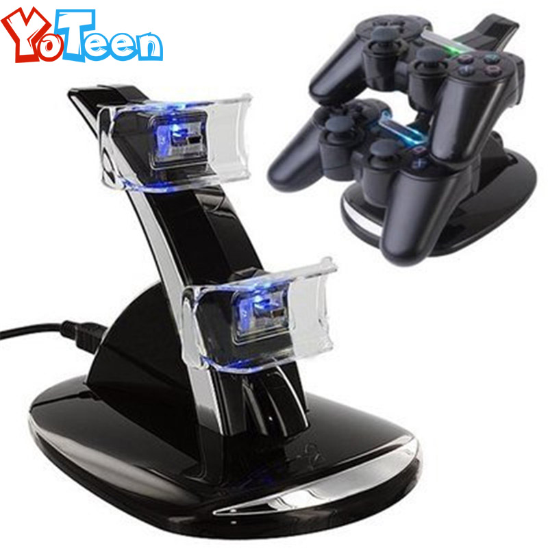 Dual USB Charger For PS4 Charge for PS4 Wireless Controller for PS4 Charging Dual USB Charging Charger Dock Station Stand Holder