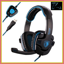 Brand Sades SA 901 Gaming Headset 7 1 Surround Sound Headphones with Mic Remote Control font