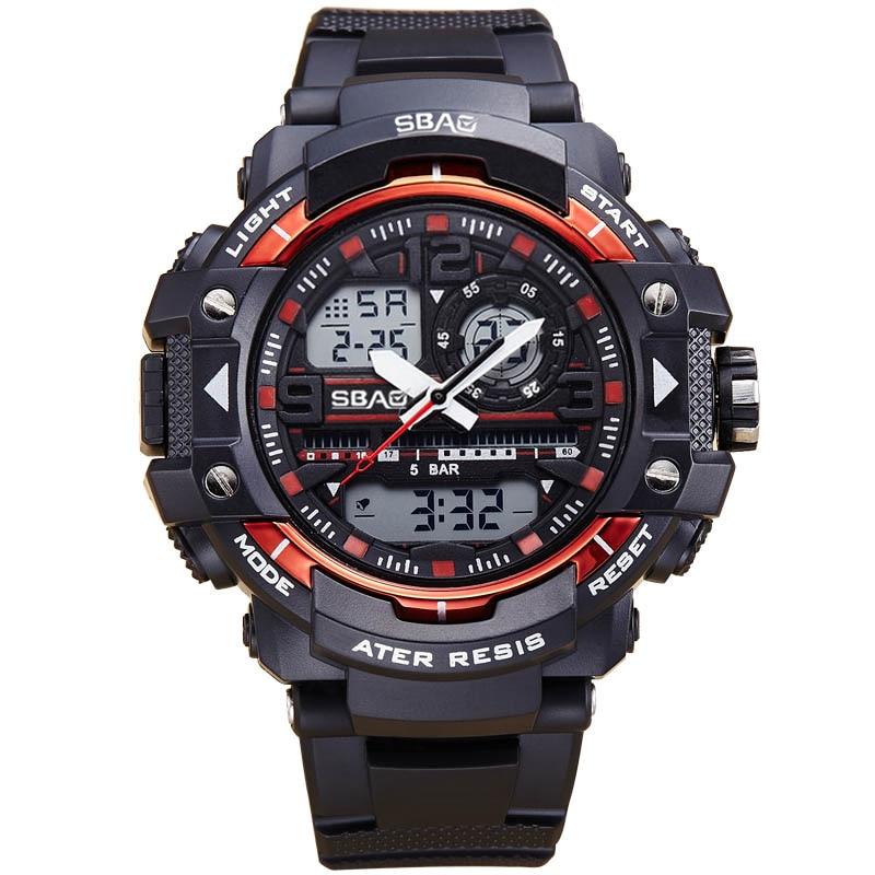 New Fashion SBAO Brand Children Sports Watches LED Digital Quartz Military Watch Boy Girl Student Multifunctional