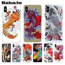 Babaite Japanese Japan Tattoo Koi Fish art Painted Phone Case For iphone 5 5s 5c SE And 6 6s 7 7plus 8 8plus Phone Case(China)
