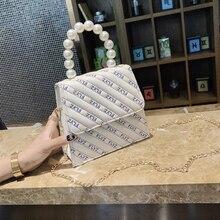 2018 New Solid Color Casual Ladies Shoulder Evening Dress Small Square Bag Ladies Personality Letter Shoulder Messenger Bag Ladi