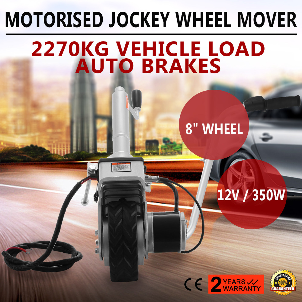 (From EU Warehouse)Trailer Jockey Wheel 12V 350W Motorised Electric Power Trailer Mover Camper Caravan Boat Trailer