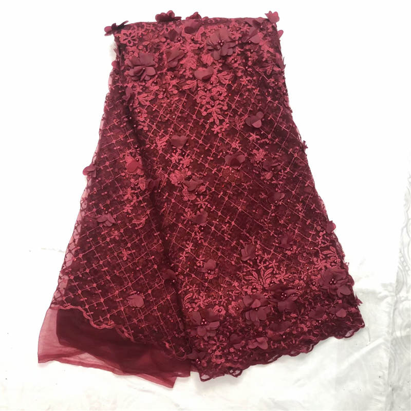 MW!African Beaded 3D Tulle Lace Fabric 2019 African French Lace Fabric High Quality Nigerian Embroidery Tulle French Lace L32560MW!African Beaded 3D Tulle Lace Fabric 2019 African French Lace Fabric High Quality Nigerian Embroidery Tulle French Lace L32560