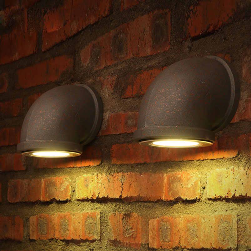 3W Retro loft LED wand lampe industrie wasser rohr vintage eisen licht bar schlafzimmer treppen club wohnzimmer korridor cafe lampe bh