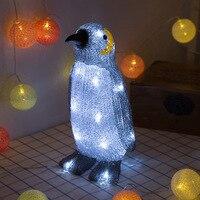 Acrylic Penguin 3D Table Lamp Bedroom Bedside Table Lamp LED Night Light New Strange 3D Visual Light Children's Gifts