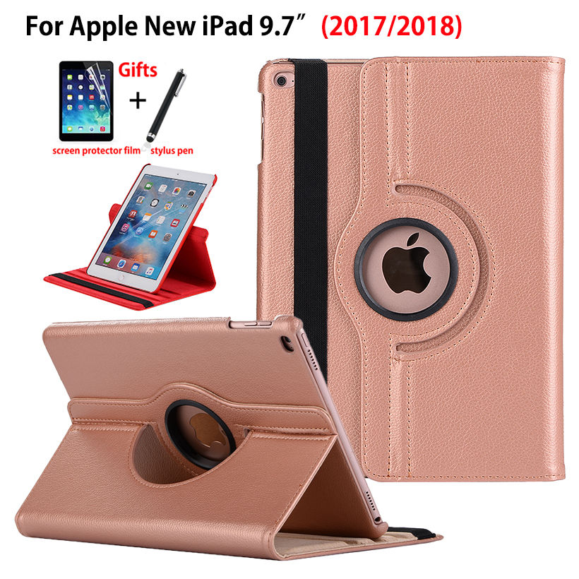 360 Degree Rotating Case For Apple iPad 9.7 2017 2018 5th 6th generation Smart Cover Funda Tablet A1822 A1893 A1954 Stand Shell360 Degree Rotating Case For Apple iPad 9.7 2017 2018 5th 6th generation Smart Cover Funda Tablet A1822 A1893 A1954 Stand Shell