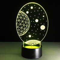 The New Exotic Products Wholesale Trade LED Decoration Lamp Night Light 3D Lamps Lighting Sky Lights